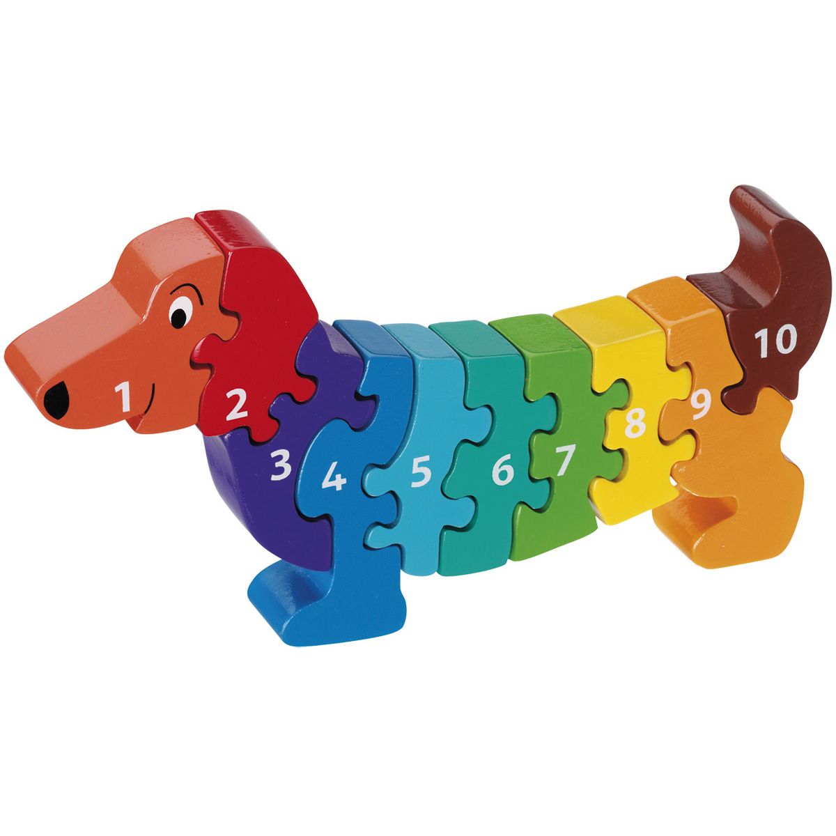Dachshund 1 10 Number Puzzle Wooden Toys For Children