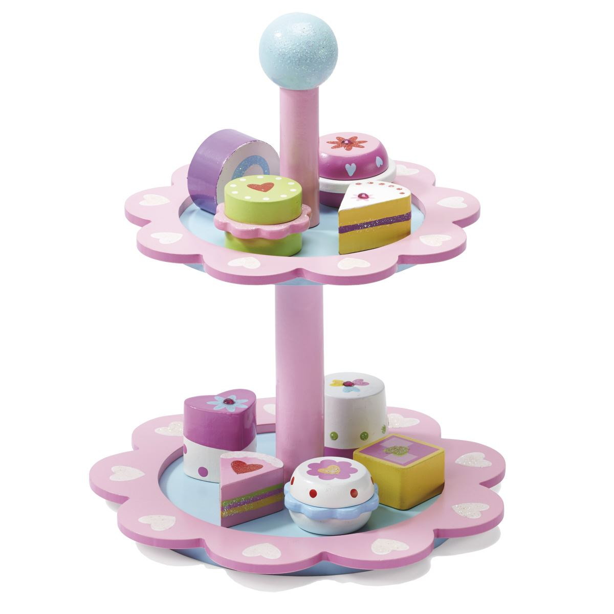 Fairy Wooden Cake Stand & Cakes| Fairy Wooden Cake Stand & Cakes: mulberrybush.co.uk/fairy-wooden-cake-stand-and-cakes