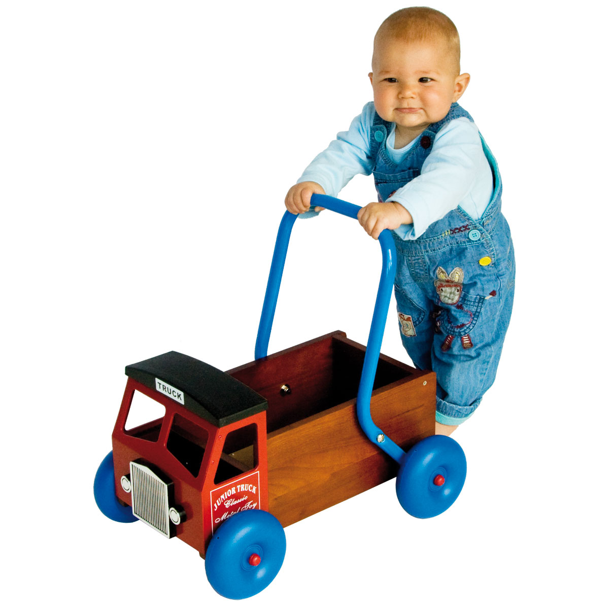 Baby Walker Red Truck Wooden Toys For Babies