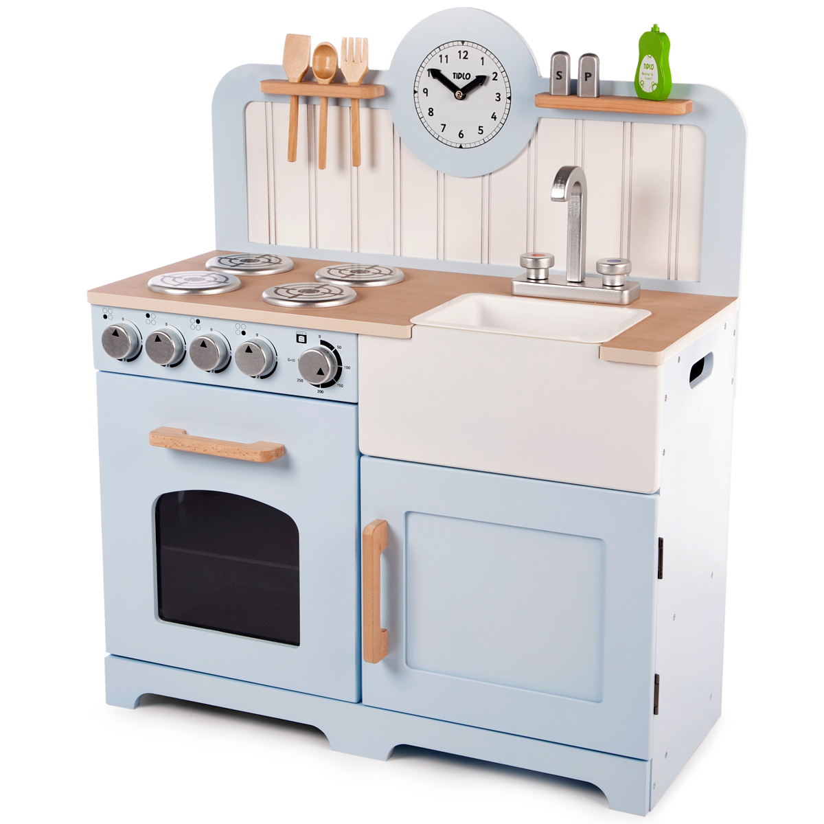 Blue Country Wooden Play Kitchen By Tidlo