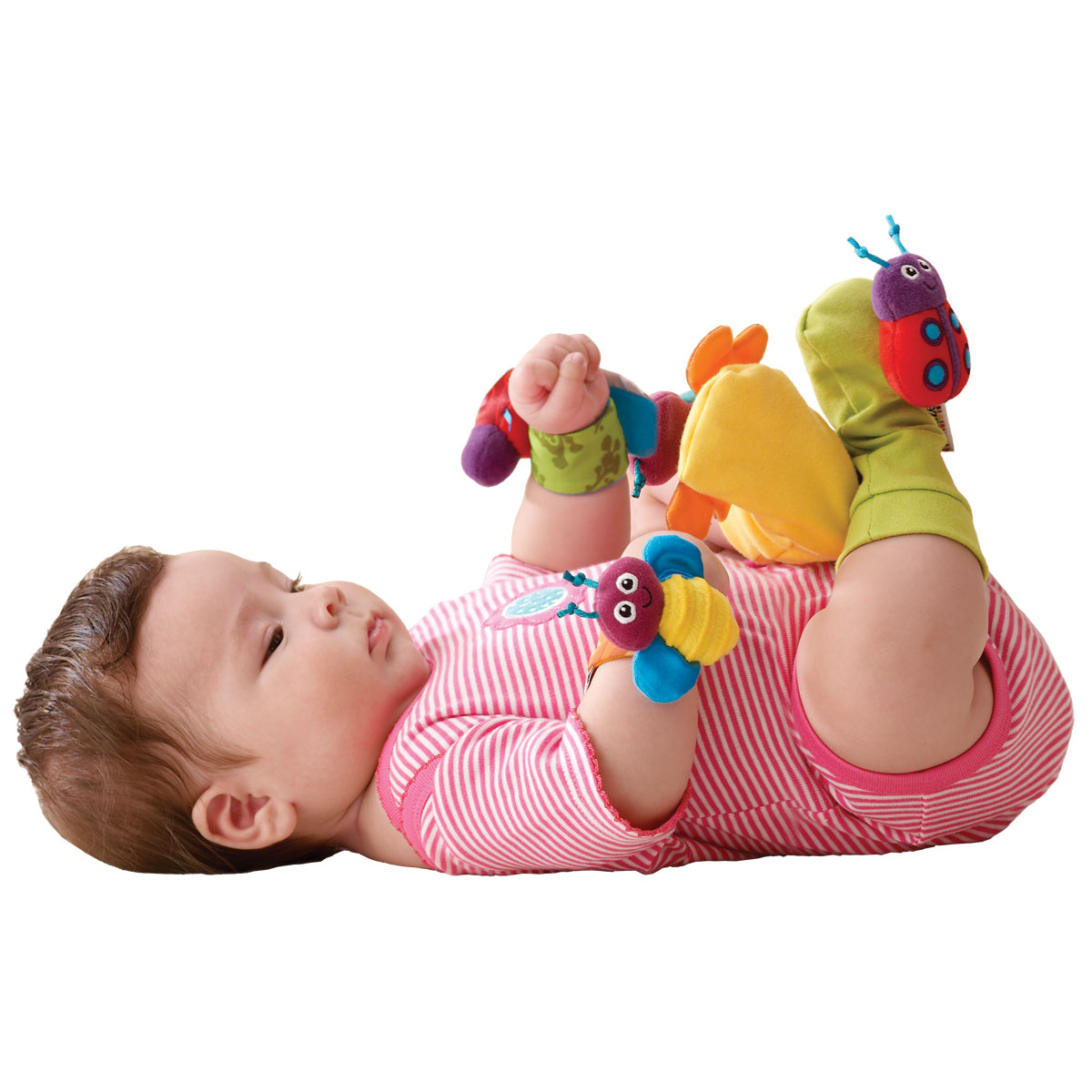Footfinders And Wrist Rattles Set Lamaze Toys For Babies