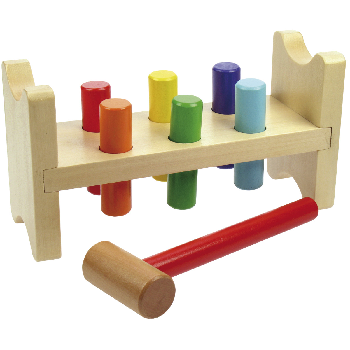 Hammer Peg Bench Bigjigs Bb006 Wooden Toys For Toddlers