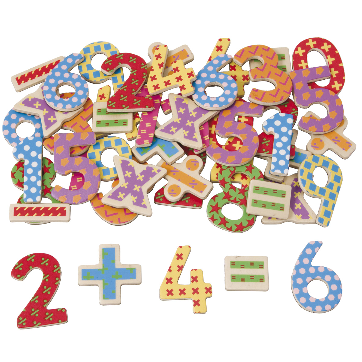 Toys For Learning Numbers : Magnetic wooden numbers tidlo letters