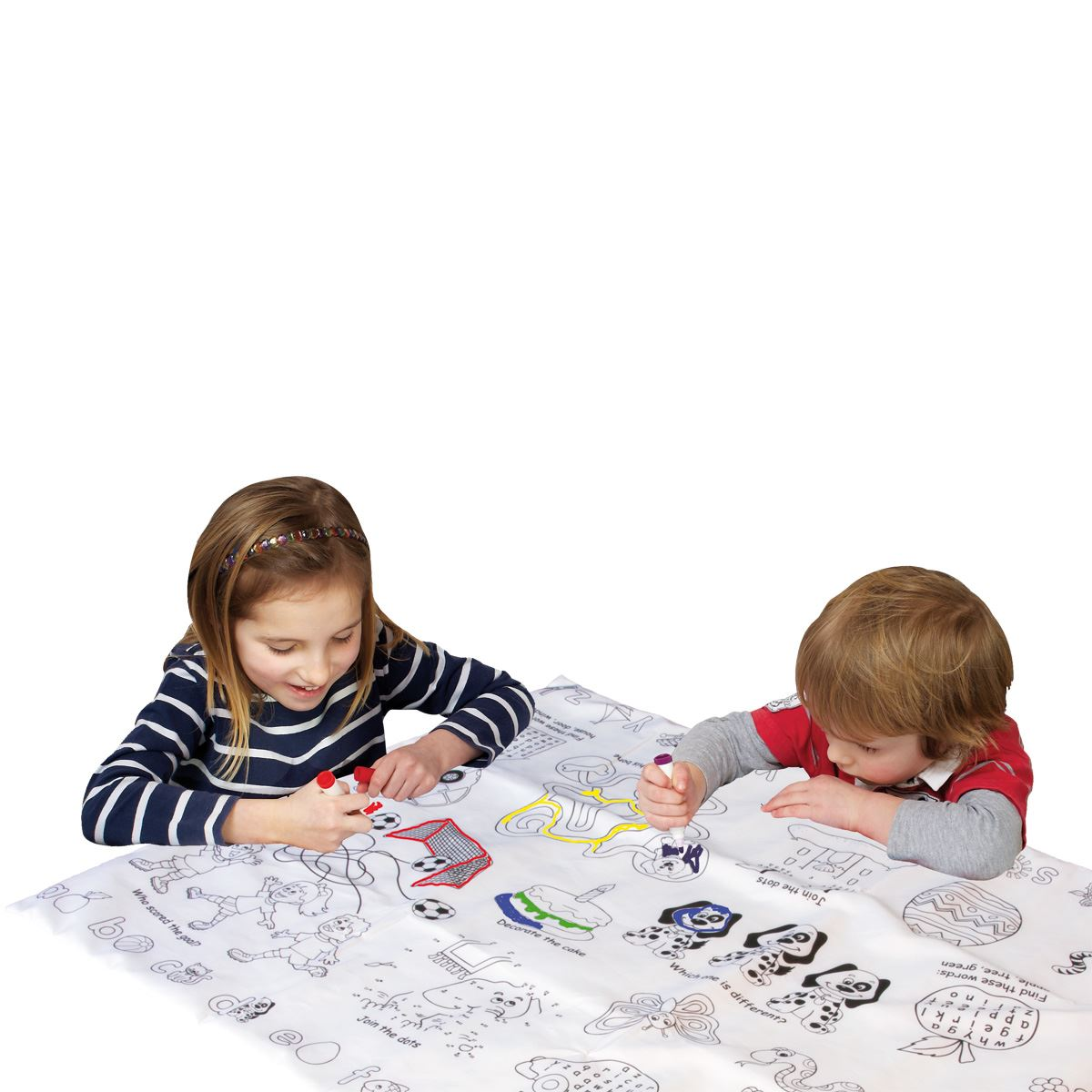 Colour In Activity Table Cloth Picnic Blanket Draw