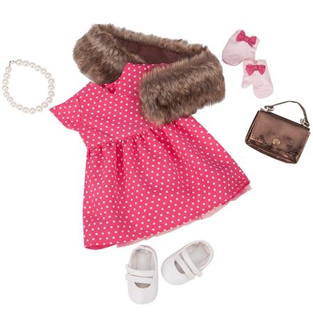 Picture of Dolls Outfit - Spotty Dress & Stole