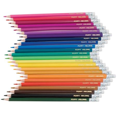 Picture of 24 Named Erasable Colouring Pencils